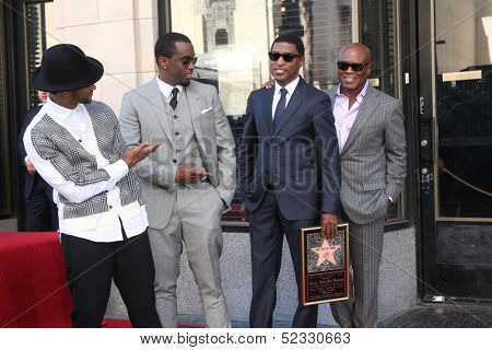 LOS ANGELES - OCT 10:  Usher, Sean Combs, Kenny Edmonds, Antonio