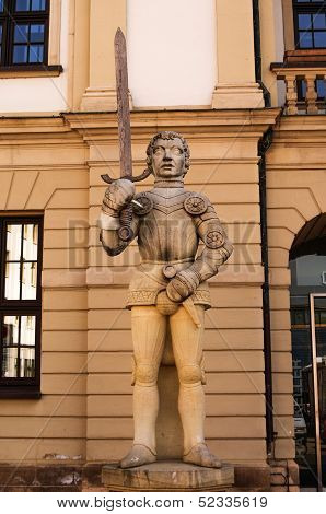 Statute Of Knight In Magdeburg