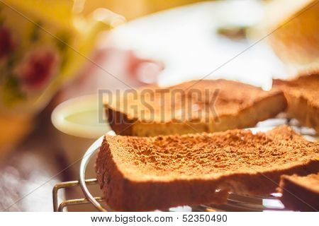 Pile Of Toast For Breakfast