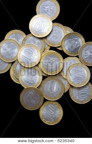 Pile Of Russian Commemorative Bimetallic Coins