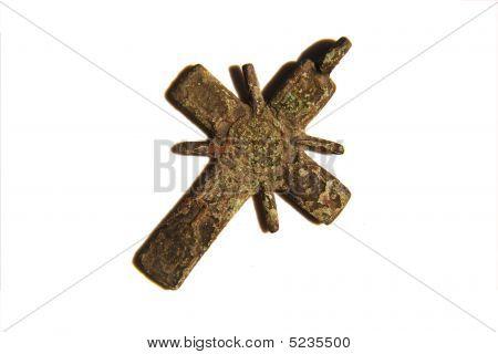 Ancient Christian Cooper Cross (worn On Neck)