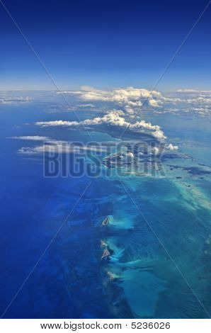 Aerial View Over The Caribbean