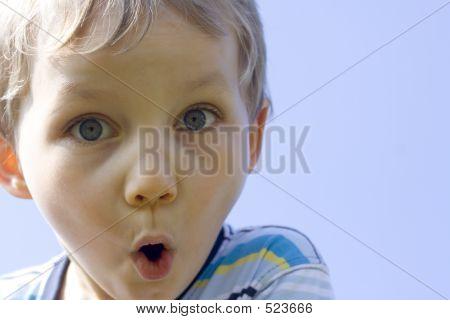 suprised boy poster