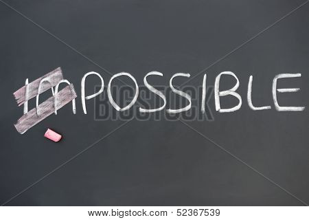 Impossible On Blackboard With Im Covered