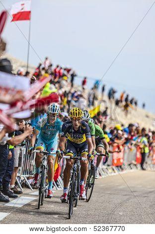Cyclists Climbing Mont Ventoux
