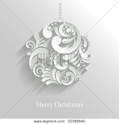 Abstract Floral Christmas Ball