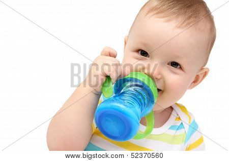 Baby With Milk Bottle