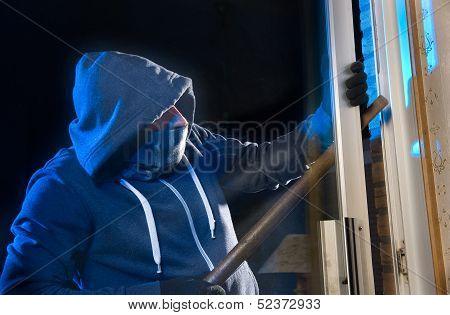 Burglar At Work