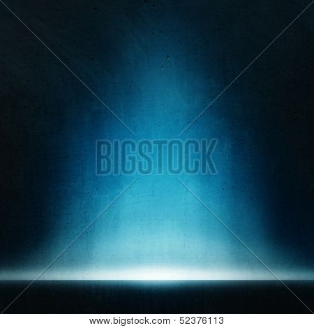 abstract blue background with misterial light.