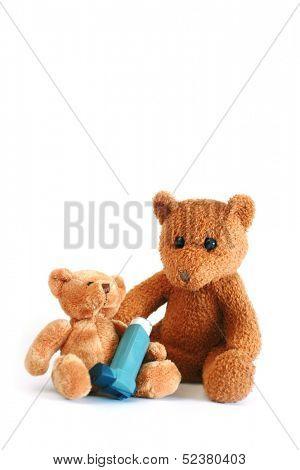 teddy bears and asthma spray