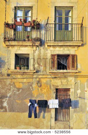 Washing Hanging In Italian Street