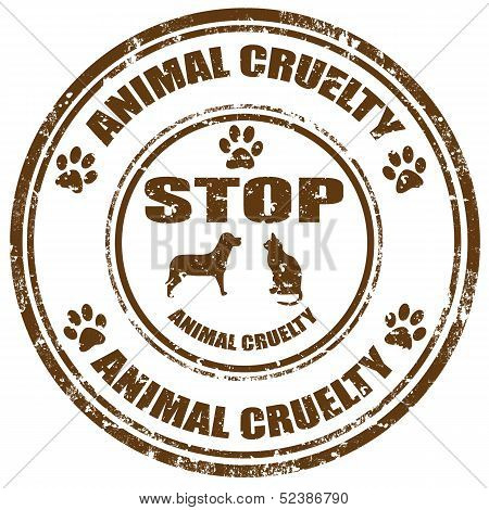 Stop Animal Cruelty-stamp