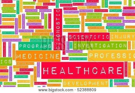 Healthcare in the Medical Industry as Concept poster