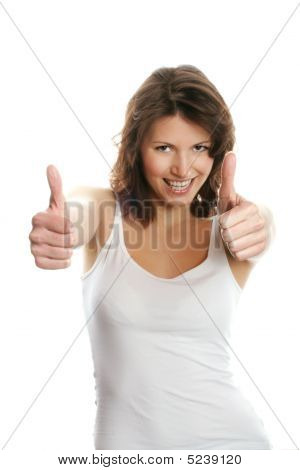 Happy Woman Is Smiling