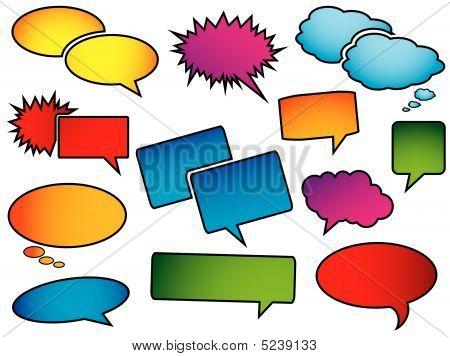 Pop Art Speech Bubbles
