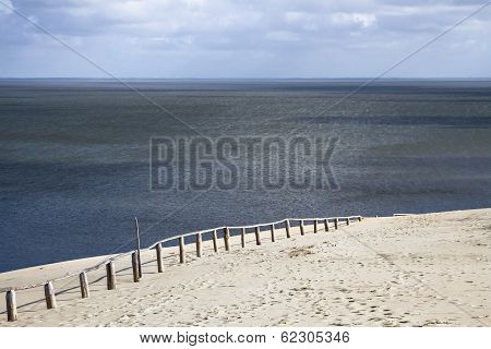 Sand Dune In Curonian Gulf