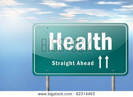 Highway Signpost Health