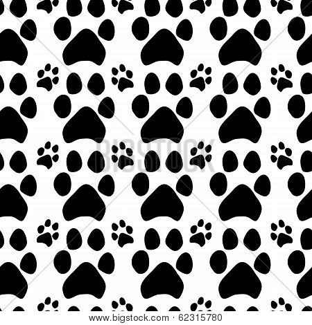 Traces of dogs. Seamless pattern. This is file of EPS10 format. poster