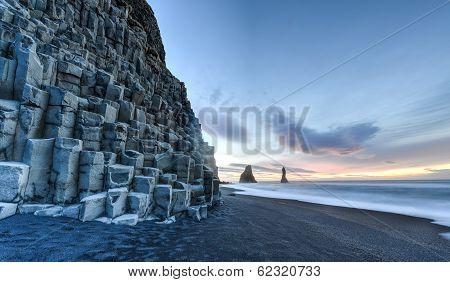 Reynisdrangar On Reynisfjara Beach