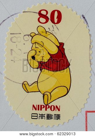 JAPAN - CIRCA 2000th: stamp printed by Japan shows Bear, circa 2000th