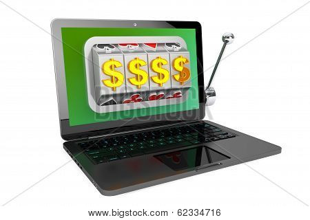 Slot Machine Inside Laptop