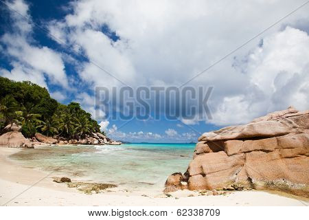 Tranquil Tropical Beach And Bay