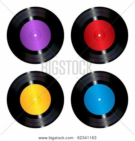 Vinyl records set