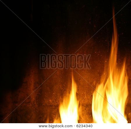 Texture With A Glow From A Fireplace And Flames