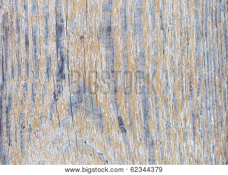 Old Worn Plank Wall With White Paint