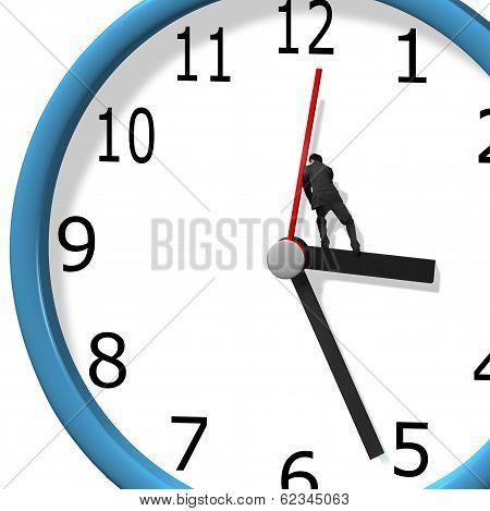Pushing Clock Hand