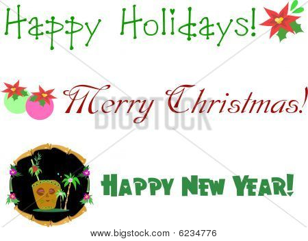 Christmas and New Year Greetings and Flowers