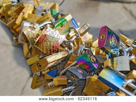 Love Locks In Florence, Italy