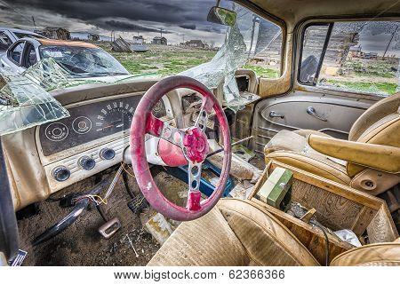 Abandoned Car In A Utah Ghost Town