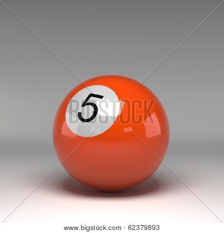 Billiard Ball Isolated On White