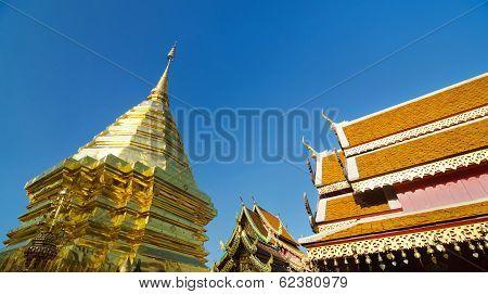 CHIANGMAI, THAILAND - DECEMBER 30, 2013: Wat Phra Tard Doi Su Thep, The Royal Temple Of Thailand