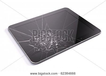 Tablet pc with broken screen