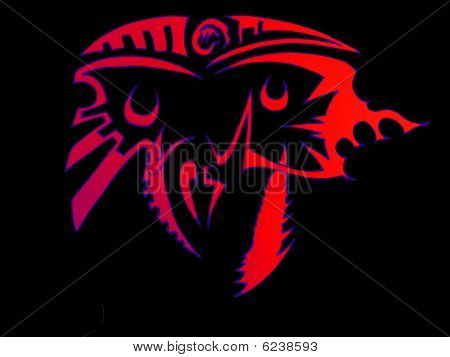 Red design of Face