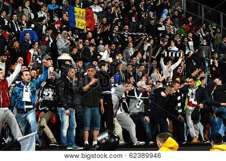 Soccer Fans In A Stadium