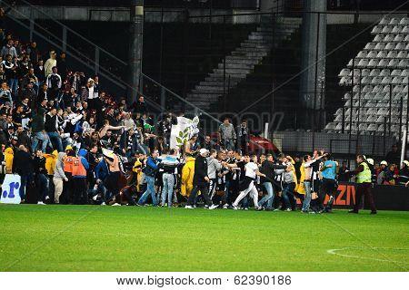 Soccer Hooligans Invason On The Soccer Field