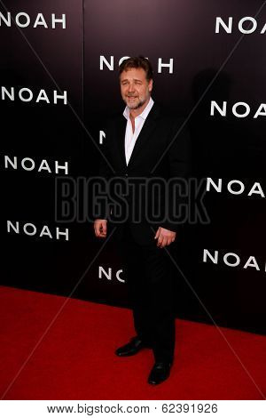 NEW YORK-MAR 26: Actor Russell Crowe attends the premiere of