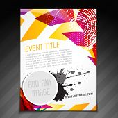 vector event  brochure flyer template poster design poster