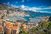 Panoramic view of Monte Carlo harbour in Monaco. poster