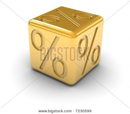 Golden Percentage Dice