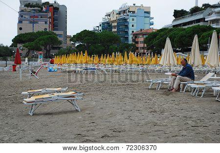 Deserted Grado Beach