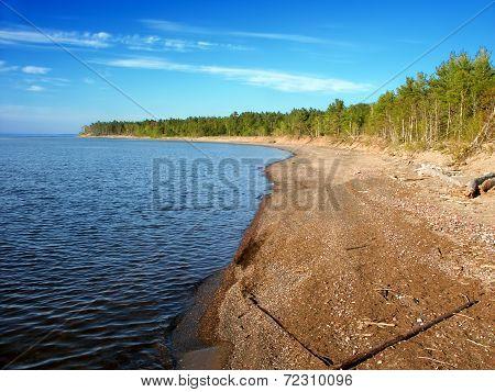 Mclain State Park Beach Michigan