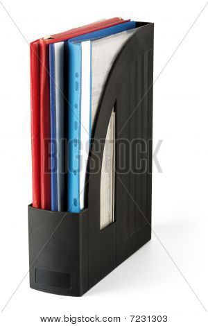 Documents in holder
