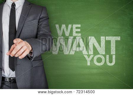 We Want You On Blackboard