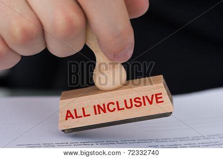 All Inclusive Rubber Stamp