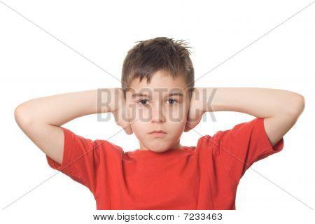 Boy Blocking His Ears