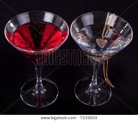 Two Glasses Of Cocktails